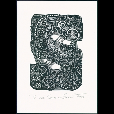 S for South Savaii Print