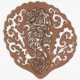 Manaia rimu lasercut (on white background)