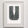 U for Unicorn Fish Print framed
