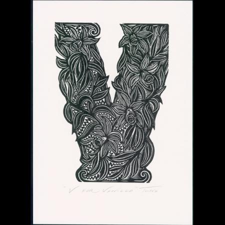 V for Vanilla Print