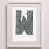W for Whale Print framed