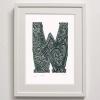W for Print Framed