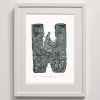 W for Waka Hourua Print Framed