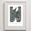 W for Waka Manu Print Framed