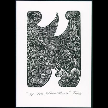 W for Waka Manu Print
