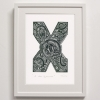 X for print framed