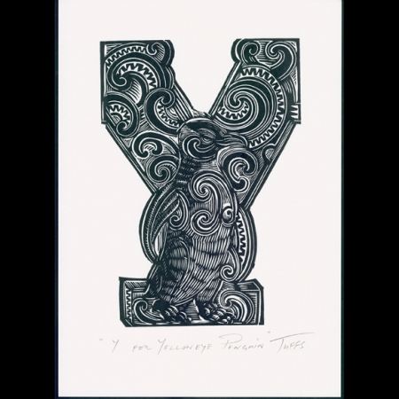 Y for Yellow Eyed Penguin Print