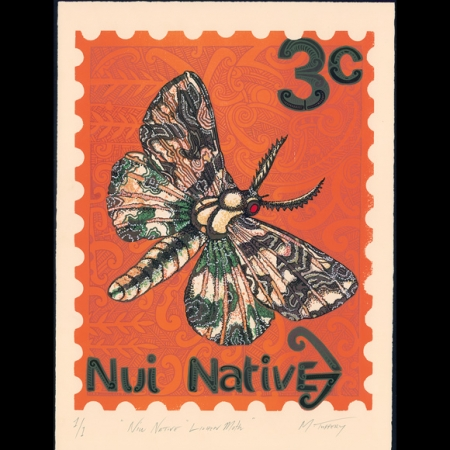 Niu Native Lichen Moth Print