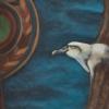 Detail of Mollymawks outside Rakiura painting by Michel Tuffery