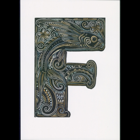F is For Flying Fish – Handcoloured