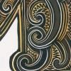 M for Moa handcoloured Michel Tuffery