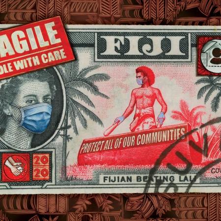 Fijian beating Covid, Fiji print