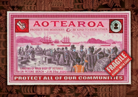 The Returnee's, Petone Beach Te Whanganui a Tara print