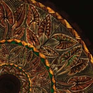 Michel Tuffery Te Moana Nui a Kiwa Series Taro Whakapapa