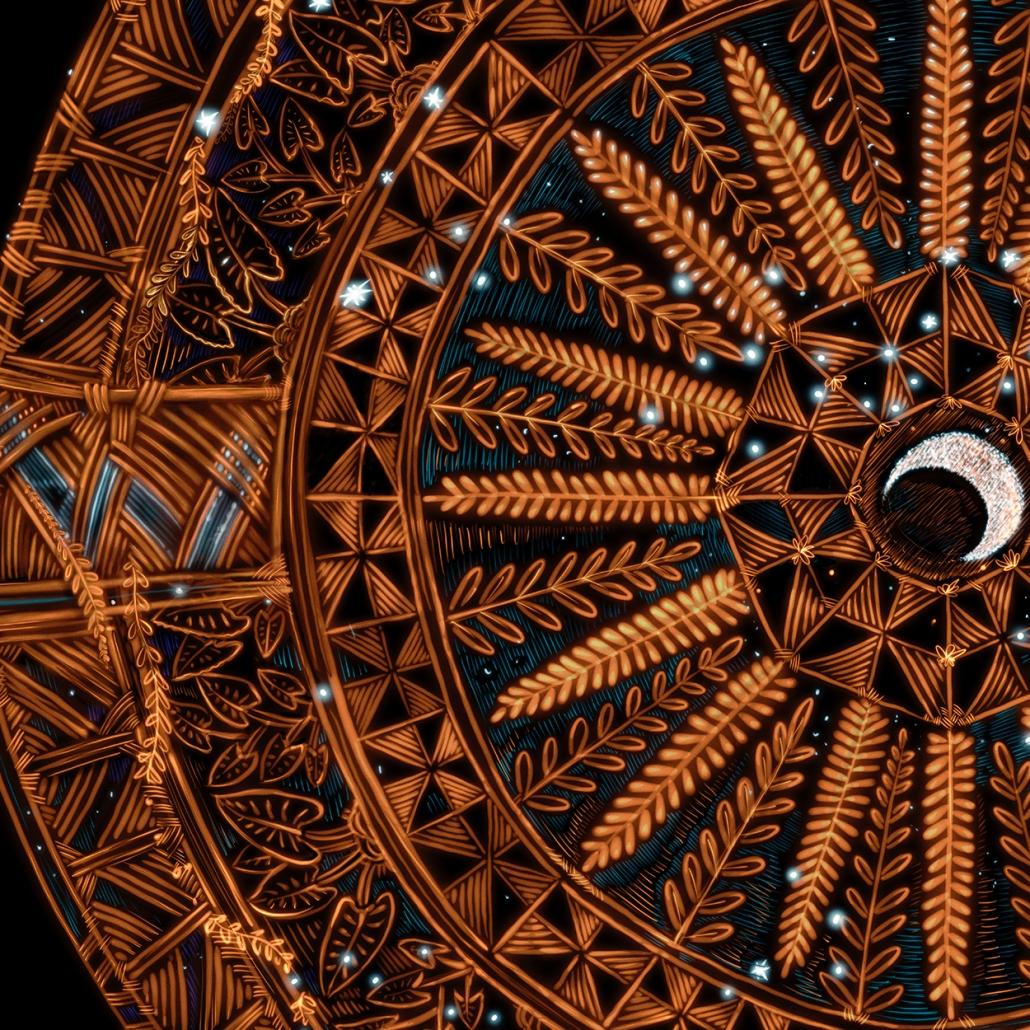 Michel Tuffery Te Moana Nui a Kiwa Series Star Compass for Matariki
